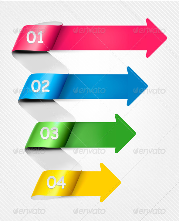 Info Graphic Banner Set with Numbers - Web Technology