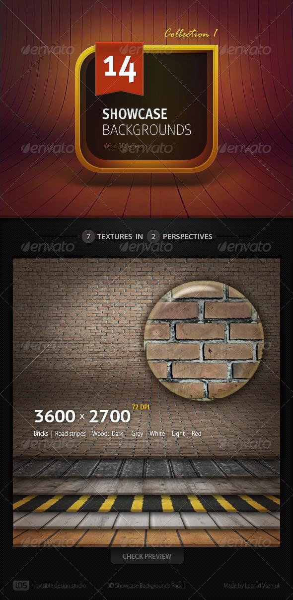14 3D Showcase Backgrounds - 3D Backgrounds