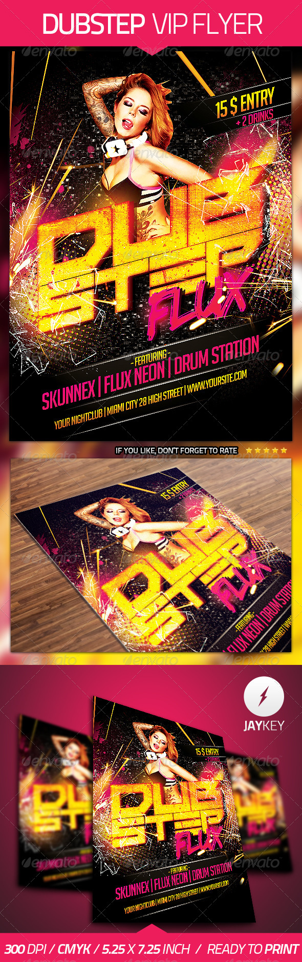 Dubstep Flyer Template - Clubs & Parties Events