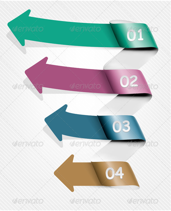 Info Graphic Banner Set with Numbers - Concepts Business