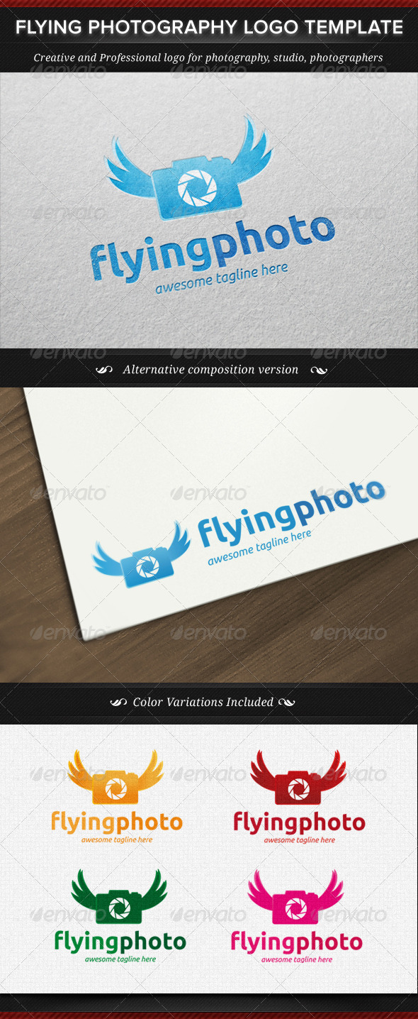 Flying Photography Logo Template - Objects Logo Templates