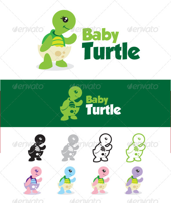 Baby Turtle - Animals Logo Templates