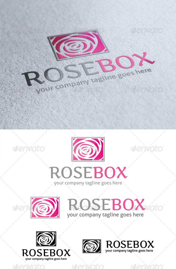 Rose Box Logo - Nature Logo Templates