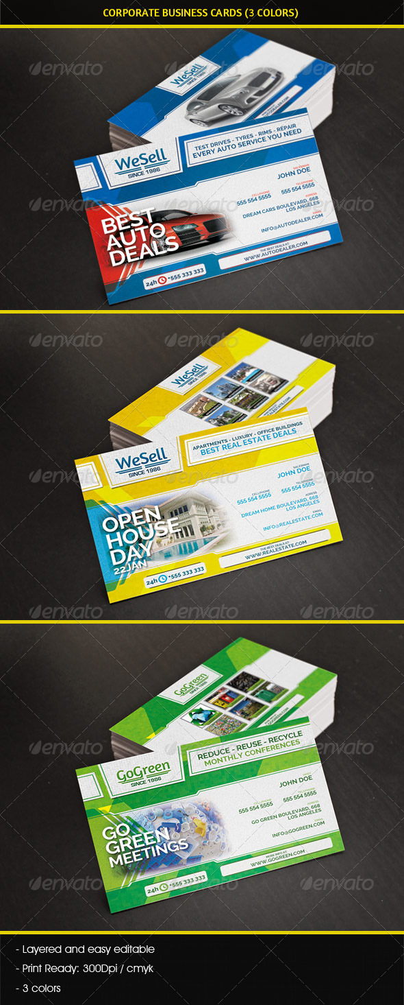 Multipurpose Corporate Business Cards - Industry Specific Business Cards