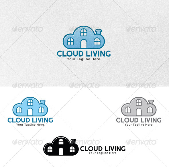 Cloud Living - Logo Template - Buildings Logo Templates