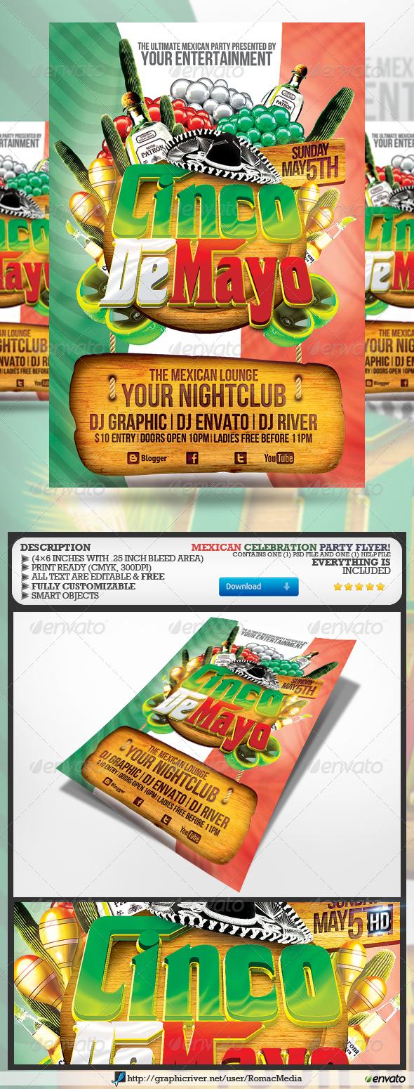Cinco De Mayo Party Flyer - Holidays Events