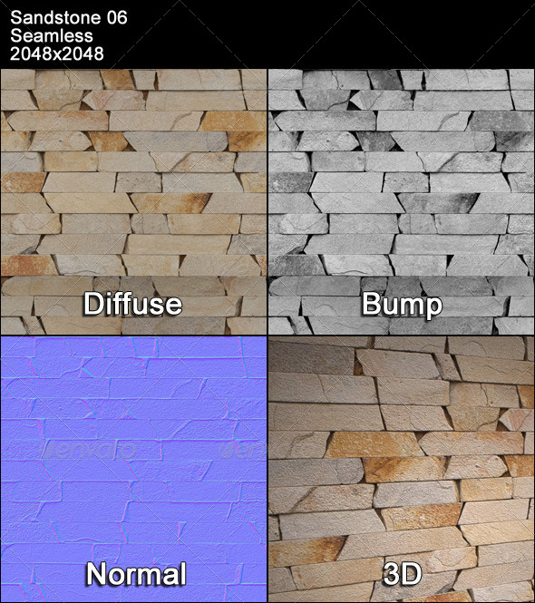 Sandstone Seamless Texture 06 - 3DOcean Item for Sale