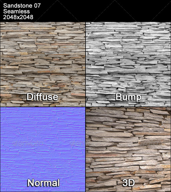 Sandstone Seamless Texture 07 - 3DOcean Item for Sale