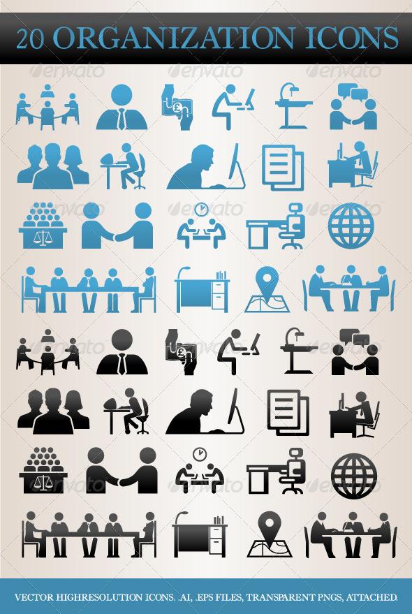 20 Organization Icons - Icons