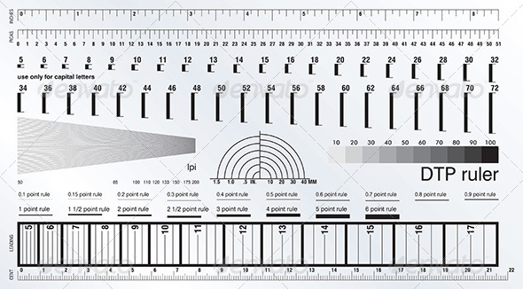 DTP Measure Precise Ruler - Services Commercial / Shopping