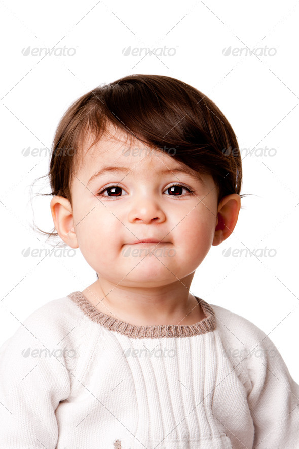 Cute baby toddler face - Stock Photo - Images