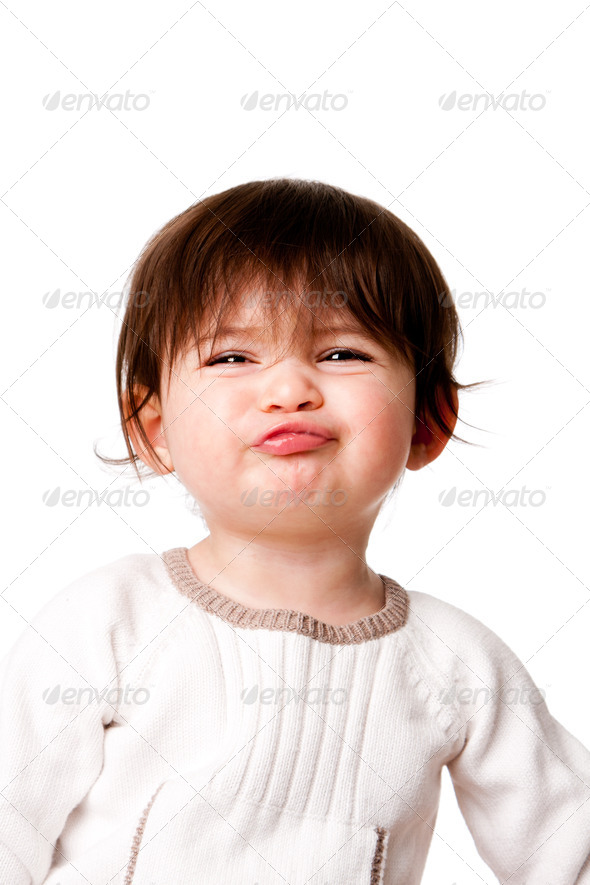 Funny baby toddler expression - Stock Photo - Images