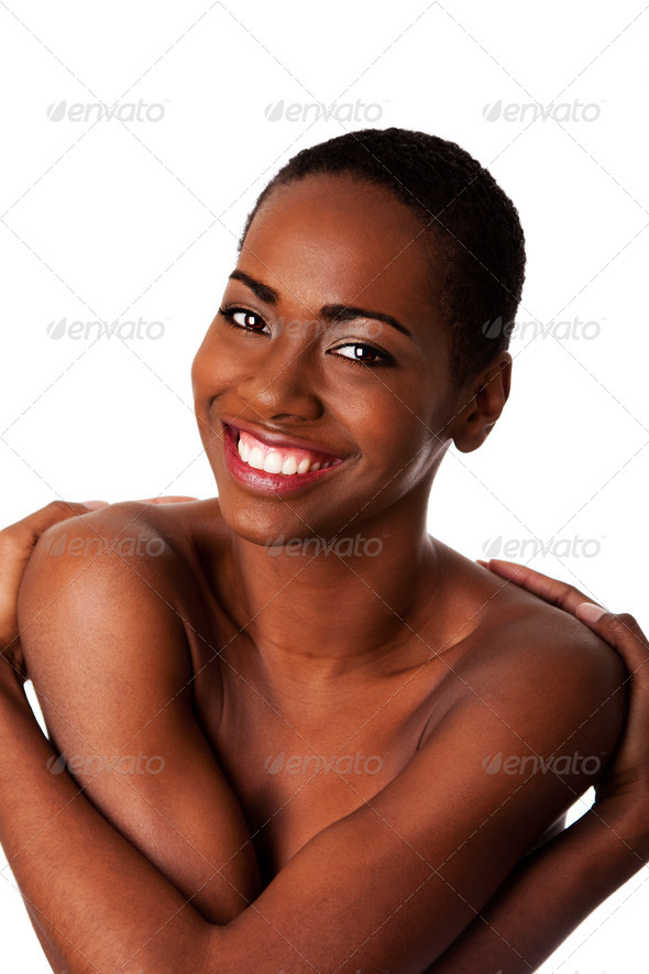 Love yourself - happy smiling woman - Stock Photo - Images