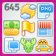 645 Sunny Raster Icons - GraphicRiver Item for Sale