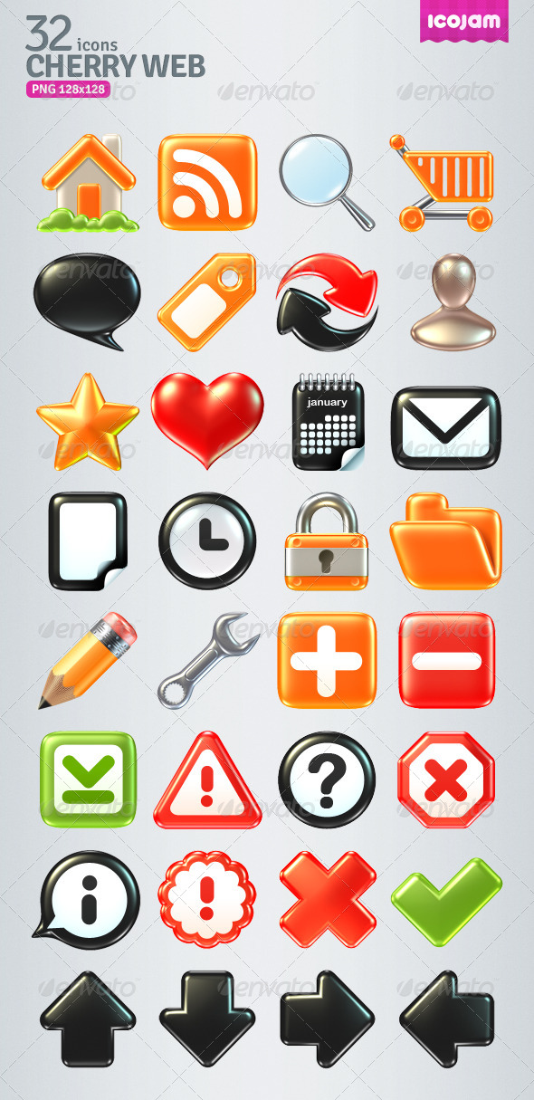 32 Raster Volume Icons - Icons