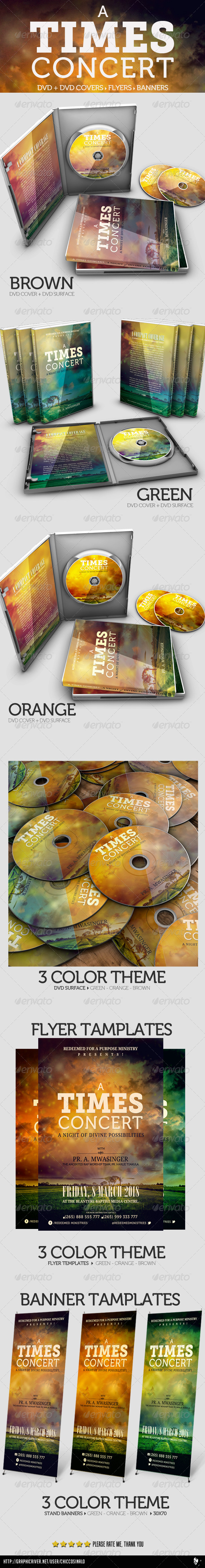 A Times Concert Collection DVD / Flyer / Banner - Print Templates