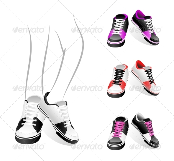 Set of Sneakers - Retail Commercial / Shopping