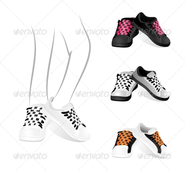 Set of Gym Shoes - Retail Commercial / Shopping