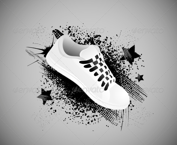Background with Gym Shoes - Backgrounds Decorative