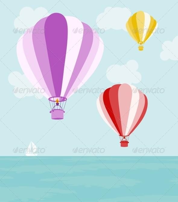 Air Balloons - Travel Conceptual