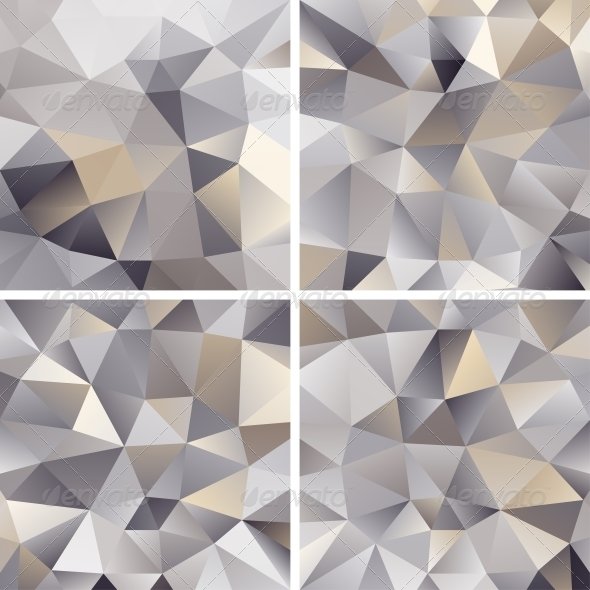 Set of Abstract Triangle Backgrounds - Backgrounds Decorative