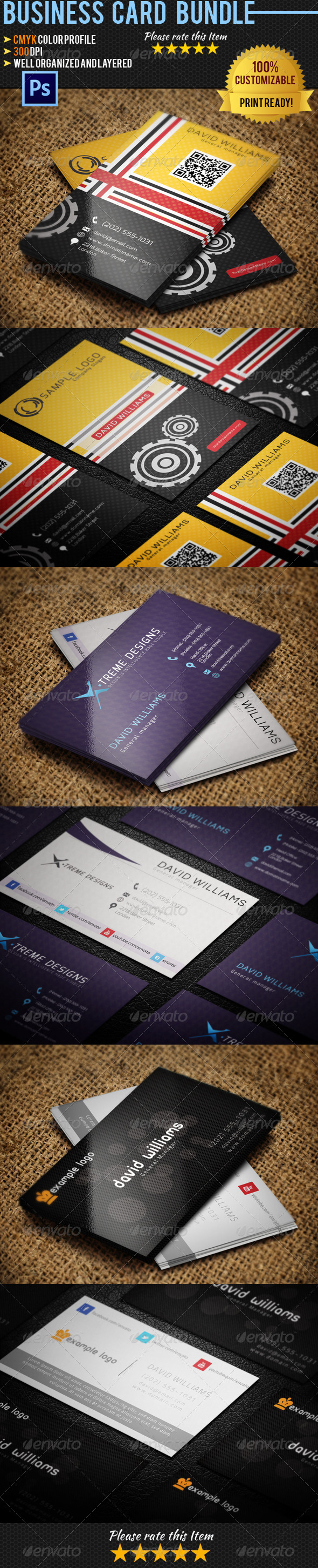 Personal Business Card Bundle 02 - Creative Business Cards