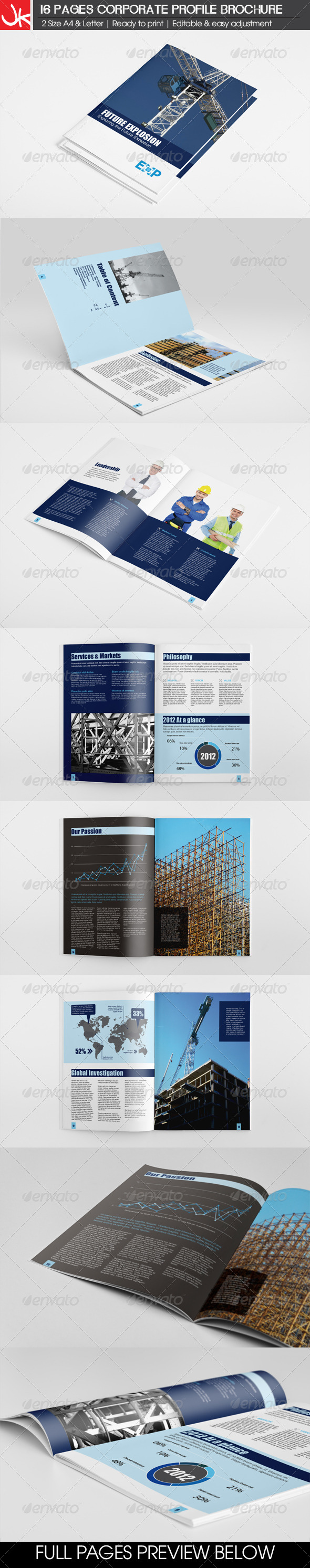 16 Pages Energy Construction Corporate Brochure - Corporate Brochures