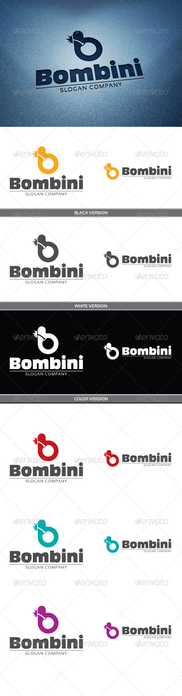 Bombini - Letters Logo Templates