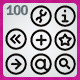 100 AI Win8 style icons - GraphicRiver Item for Sale