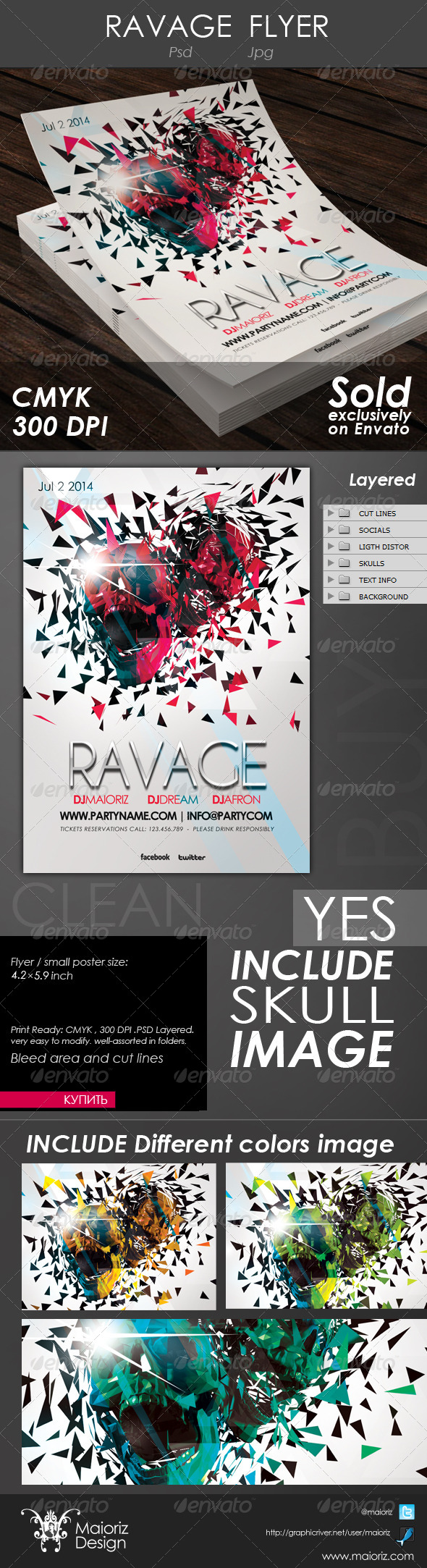 Ravage Flyer - Clubs & Parties Events
