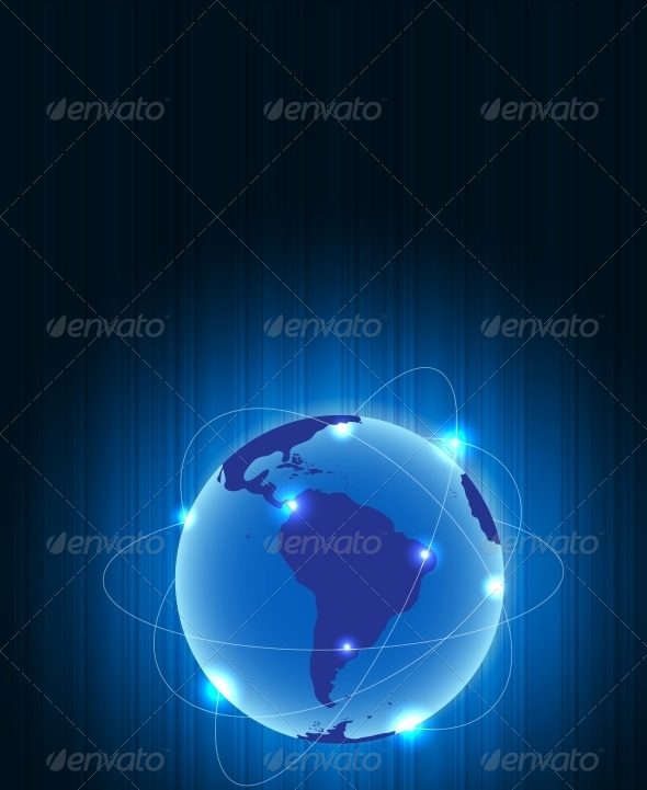 Abstract Earth Metal Connection Concept - Backgrounds Decorative