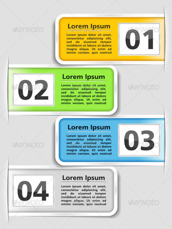 Design Template with Four Elements - Web Elements Vectors