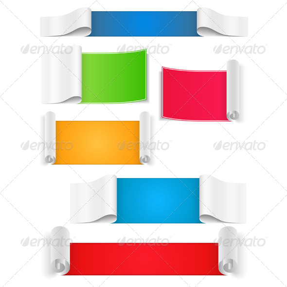 Paper Banners - Web Elements Vectors