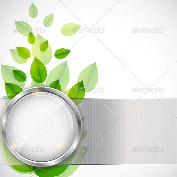 Abstract Nature Background with Leaves - Backgrounds Decorative