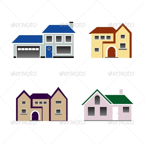 House Icon Vector - Buildings Objects