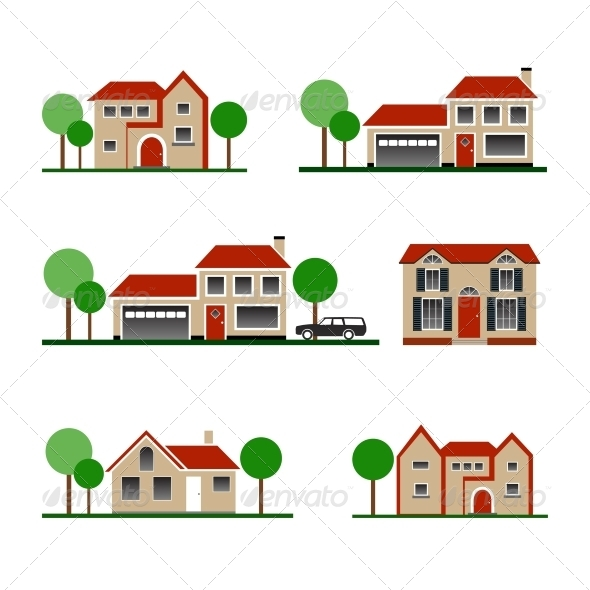 Vector House - Buildings Objects