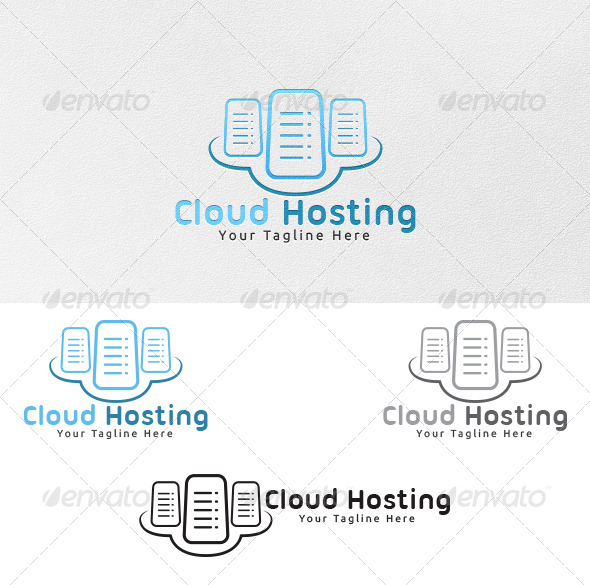 Cloud Hosting - Logo Template - Objects Logo Templates