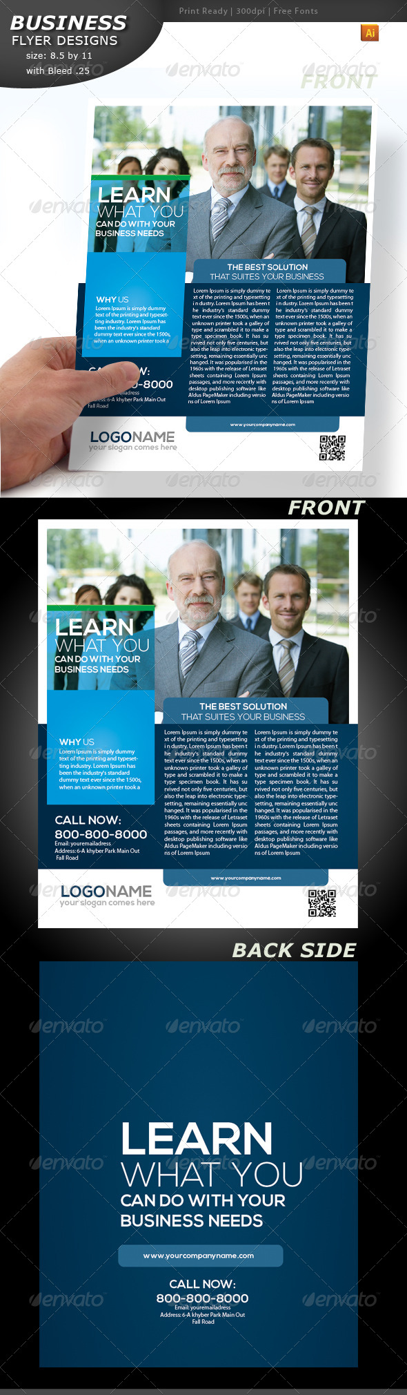 Business Flyer Double Sided  - Corporate Flyers