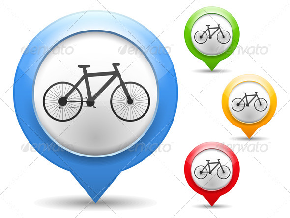 Bicycle Icon - Web Elements Vectors