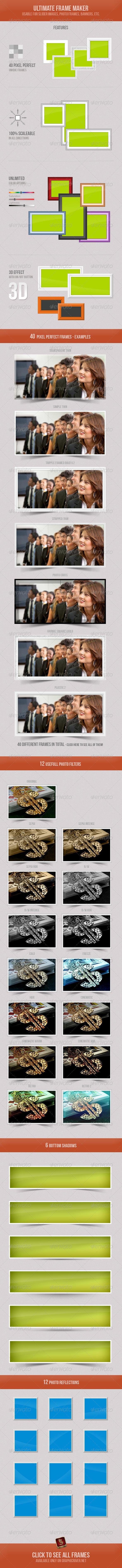 Ultimate Frame Maker - Sliders & Features Web Elements