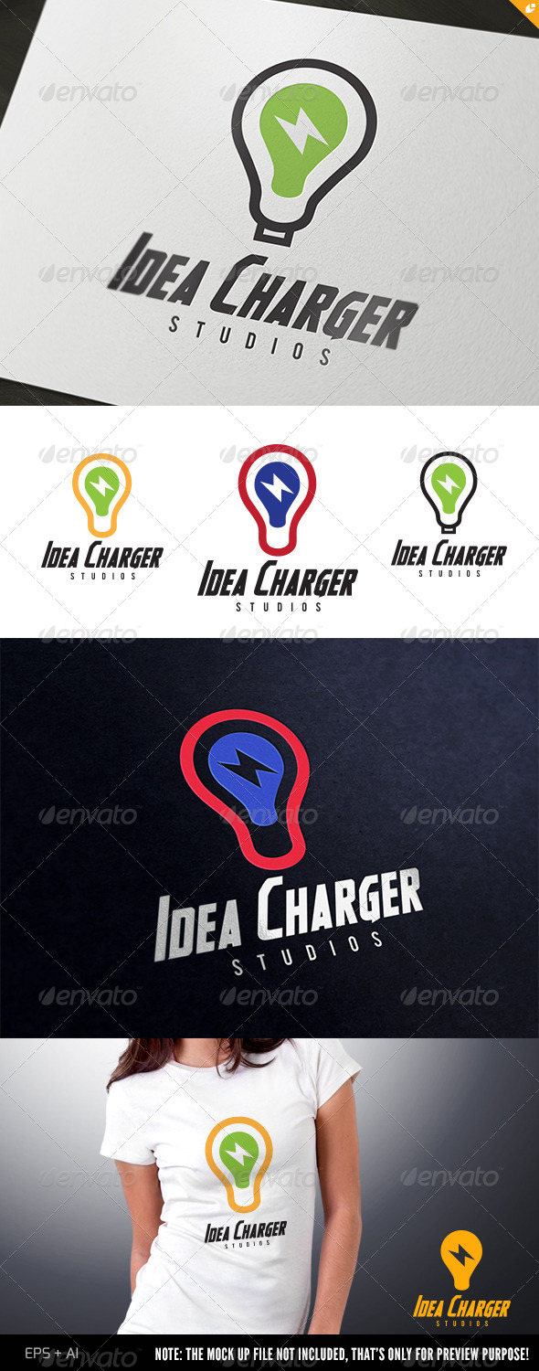 Idea Charger Logo - Objects Logo Templates