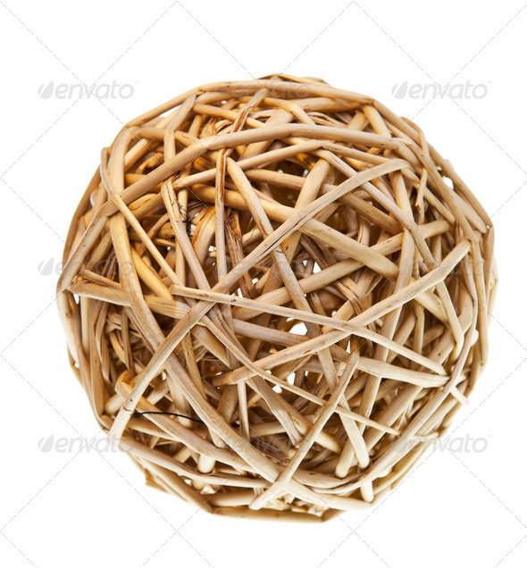 Woven Wicker Balls - Stock Photo - Images