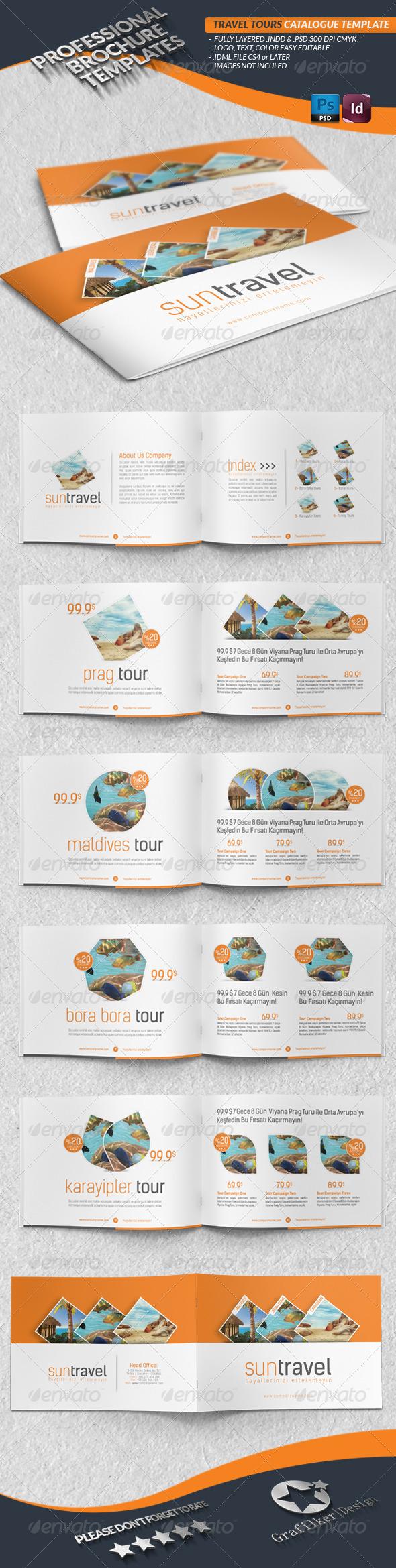 Travel Tours Catalogue Template - Catalogs Brochures