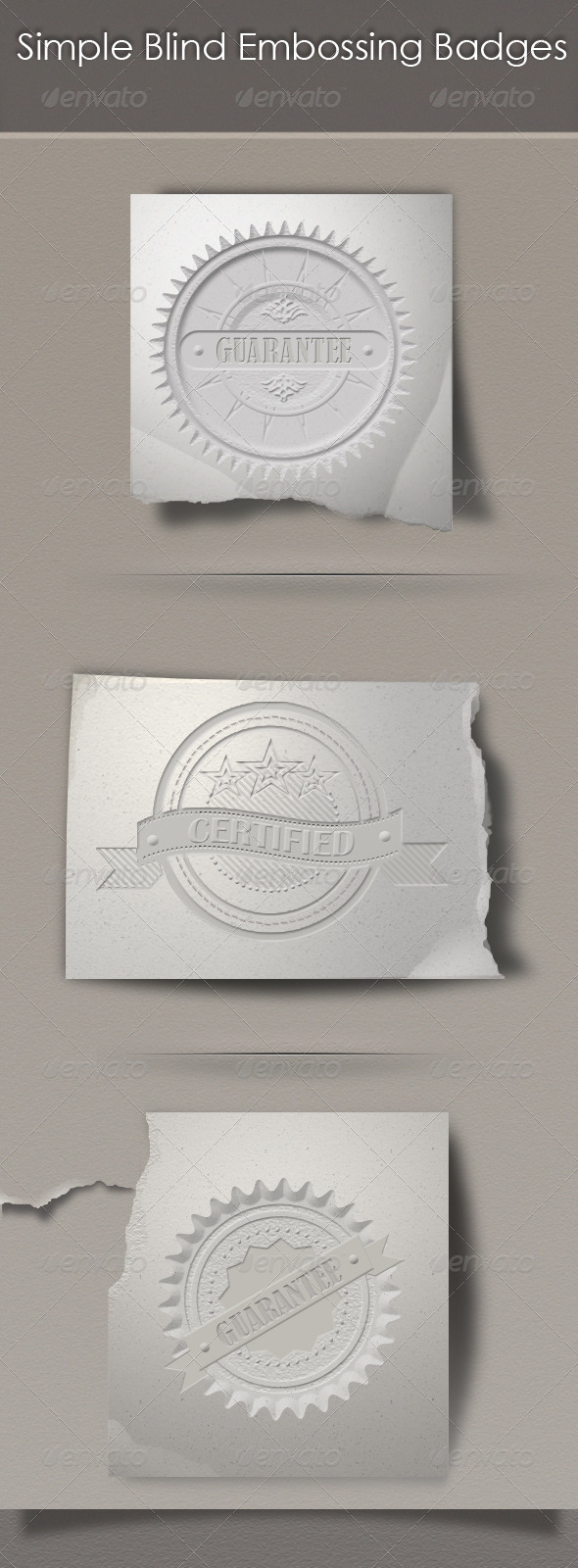 Simple Blind Embossing Badges - Badges & Stickers Web Elements