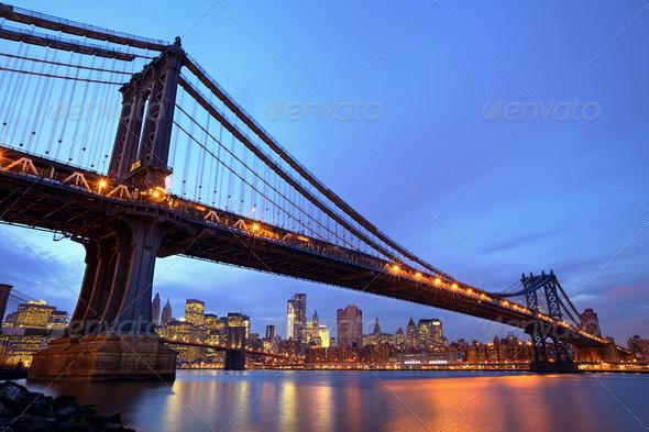 Manhattan Bridge - Stock Photo - Images