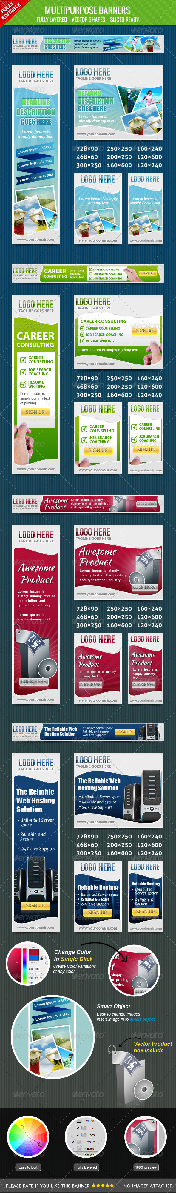 Multiporpose Banners  - Banners & Ads Web Elements