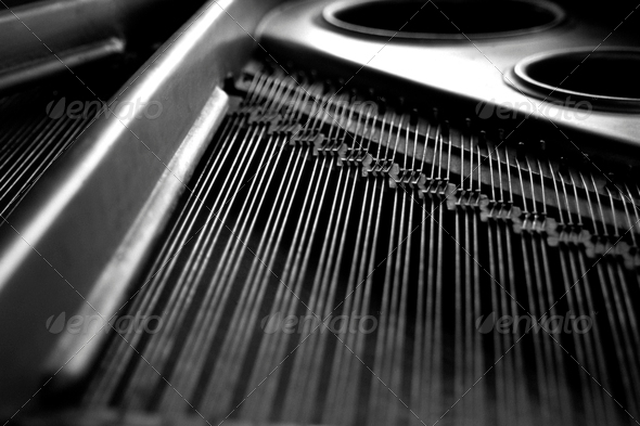 Piano Strings - Stock Photo - Images