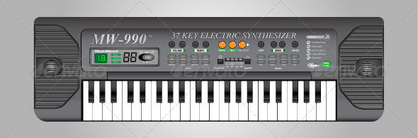 Electric Keyboard - Man-made Objects Objects