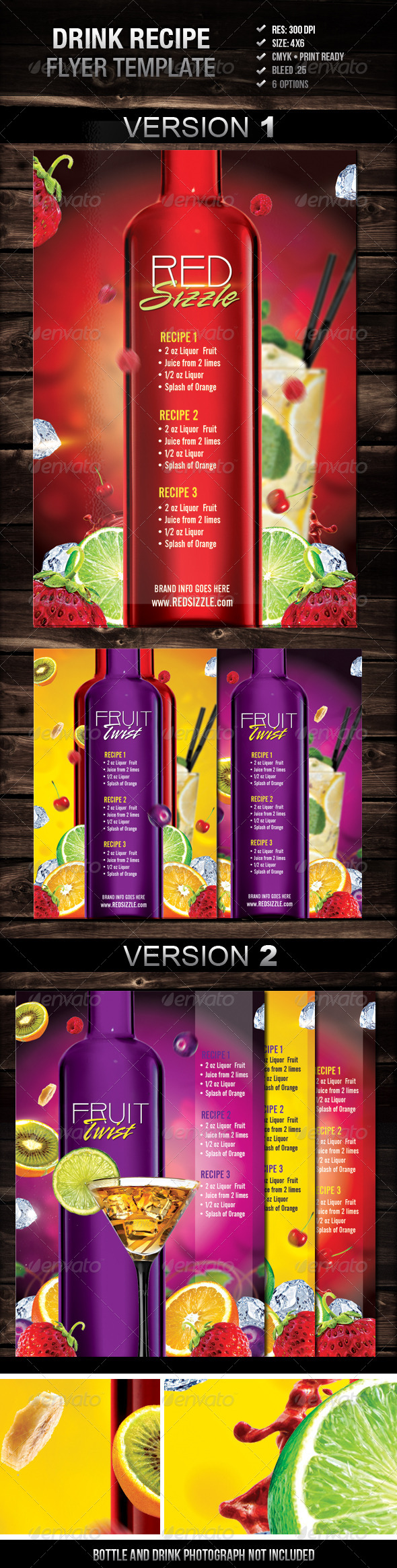 Fruit Twist Recipe Flyer - Restaurant Flyers