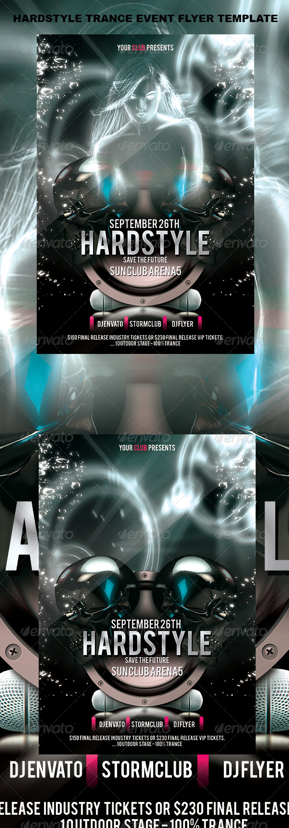 Hardstyle Trance Event Flyer Template - Events Flyers